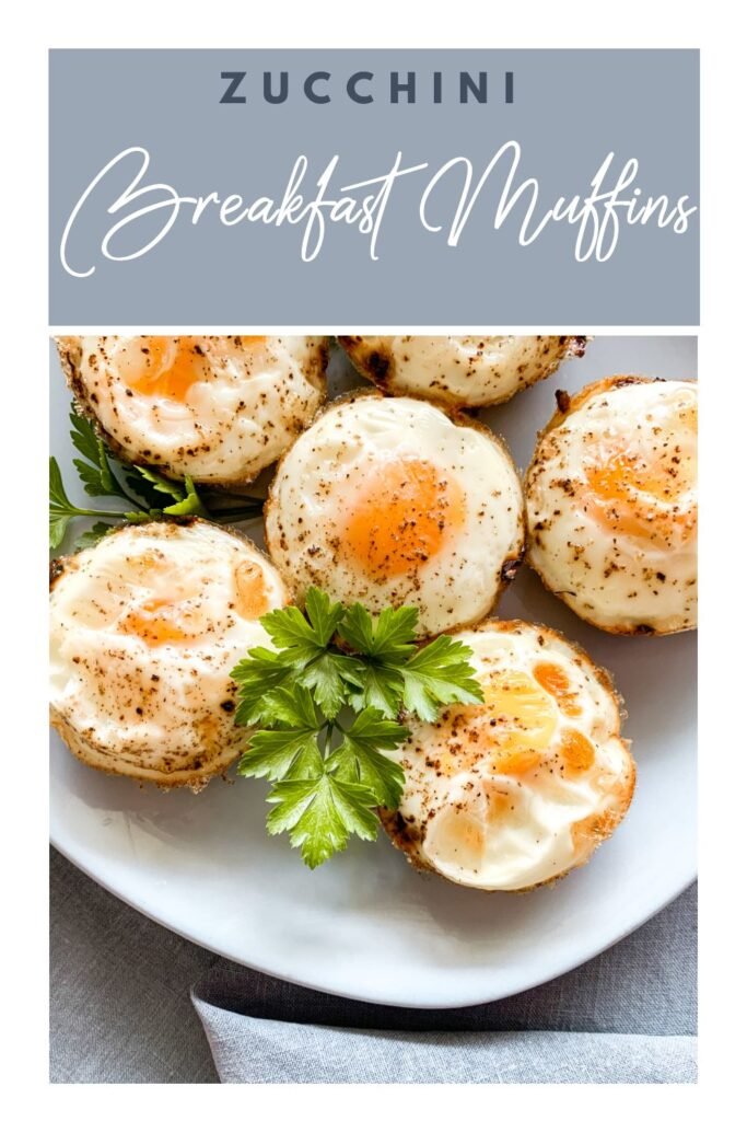 Grab and go Zucchini Breakfast muffins pinterest picture