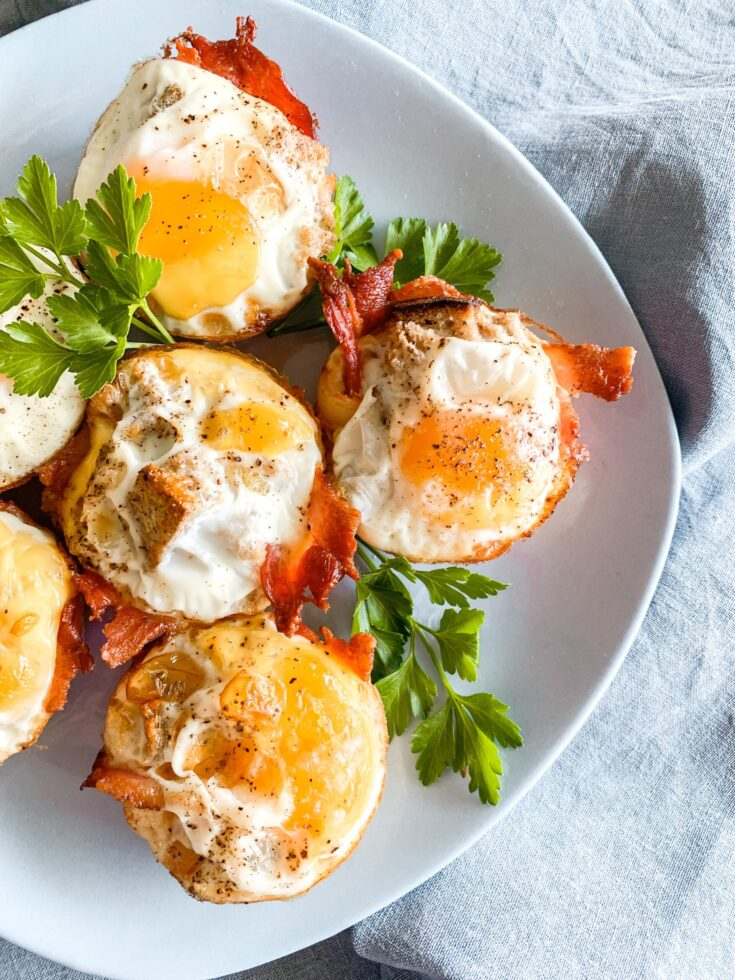 Grab and go breakfast muffins bacon and egg