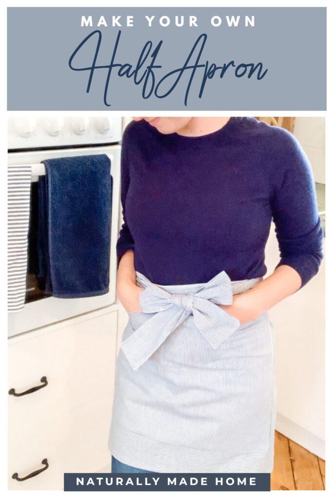 how to make a half apron