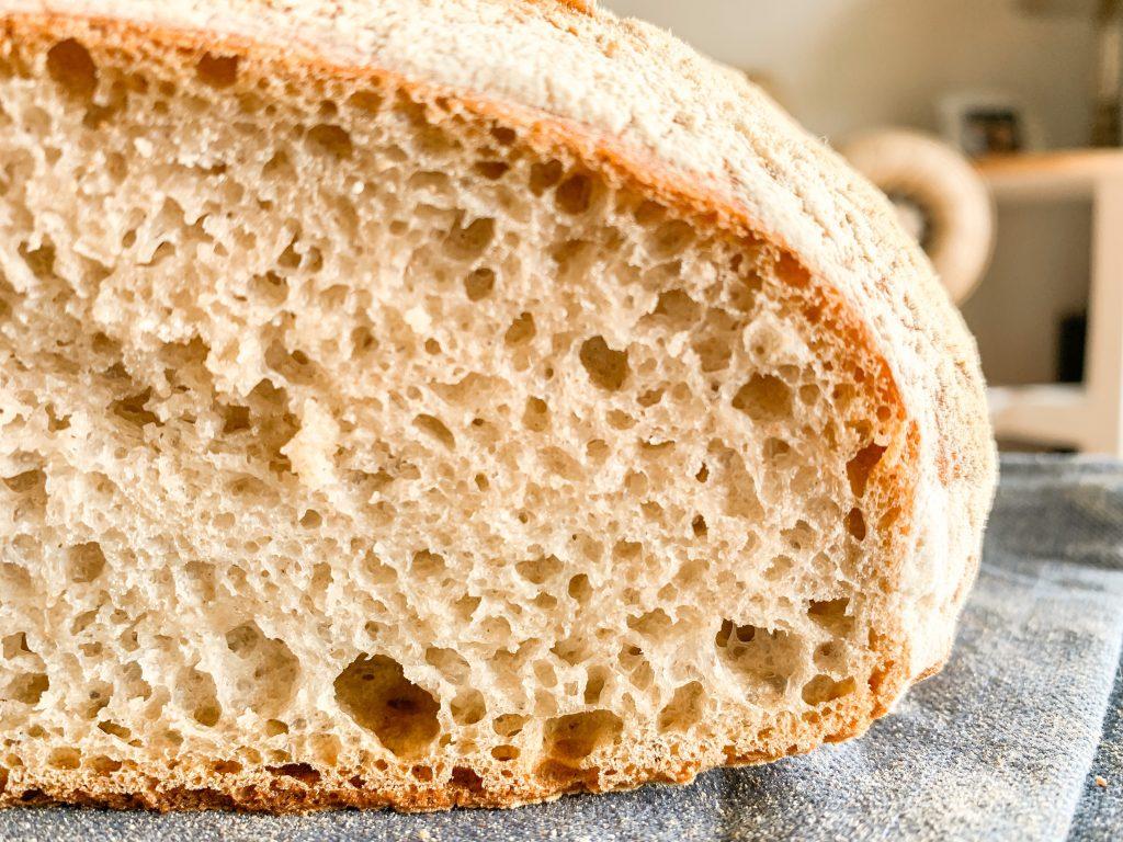Bubbly Sourdough bread loaf